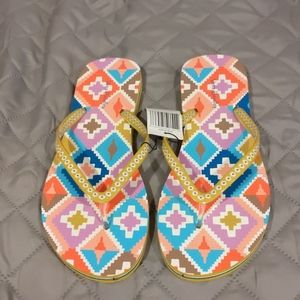 Vera Bradley Hacienda Diamonds Flip Flops